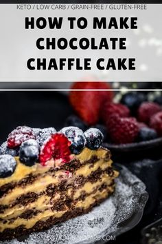 Our Chocolate Chaffle Cake with Peanut Butter Mousse is a perfect idea for a Birthday Cake or any special occasion, you might need delicious Keto Dessert. This Sugar-Free, Low Carb, Keto, Gluten-Free, and Grain-Free Chaffle Recipe is not only great looking but is a build-up of extra nutritious ingredients. Chocolate Bar Recipe, Chocolate Chia Seed Pudding, Keto Chocolate Cake, Low Carb Chocolate, Fun Easy Recipes, Sugar Free Recipes, Brunch Recipes, Summer Recipes, Keto Recipes