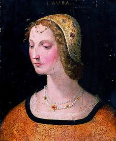 Florentine dress gallery  Beautiful coif & necklace - florschool 1500s laura dante copy