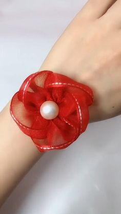 DIY custom beautiful silk bracelet DIY custom beautiful silk braceletYou can find Ribbon flower and more on our website. Cloth Flowers, Paper Flowers Diy, Fabric Flowers, Handmade Flowers, Organza Flowers, Flower Diy, Diy Hair Flowers, Diy Ribbon Flowers, Crocheted Flowers