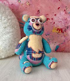 Hand knitted bear toy teddy bear toy handmade toy  soft