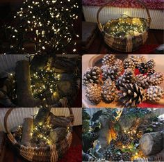 DIY project – Make a rustic basket decoration for Christmas | Cassiefairy's thrifty lifestyle blog