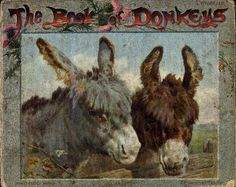Book of donkeys - Front Cover Punch Needle Patterns, The Donkey, Traditional Rugs, Rug Hooking, Animal Paintings, Beautiful Horses, Childrens Books, Folk Art, Fairy Tales