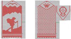 Photo Knitted Mittens Pattern, Knit Mittens, Mitten Gloves, Wrist Warmers, Hand Warmers, Yarn Projects, Knitting Projects, Knitting Charts, Knitting Patterns