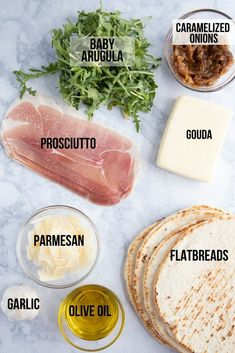 Amp up your holiday table with this super easy Prosciutto Arugula Flatbread Pizza. Simple ingredients, with big flavors! Appetizer Recipes, Dinner Recipes, Cooking Recipes, Healthy Recipes, Le Diner, I Love Food, Food For Thought, Soul Food, Sandwiches