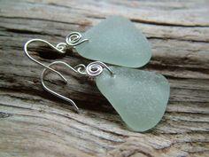Sea glass earings