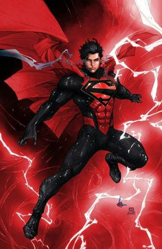 Superman earth 2 brutaal - I LOVE this look with the black and the circuit-like glowing inlays - DC Comics Marvel Dc Comics, Marvel Fanart, Dc Comics Art, Archie Comics, Anime Comics, Comic Book Characters, Comic Character, Comic Books Art, Comic Art