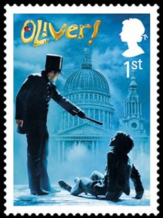A stamp from the Stage Musicals issue, 22 February 2011. 1st Class - Oliver!