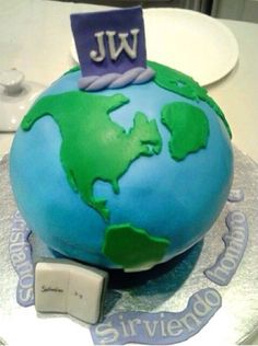 """#Pioneer cake based on #Zephaniah 3:9. For then I will change the language of the peoples to a pure language, So that all of them may call on the name of #Jehovah, To serve him shoulder to shoulder."""""""