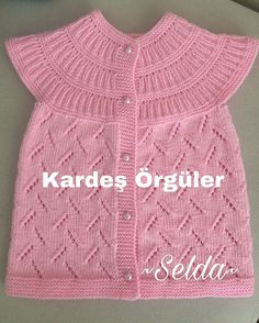 ajurlu-kutucuklar-orgu-bebek-yelek-ornegi Discover thousands of images about Natalia Vozna (natalia_vozna), This post was discovered by ley, KniKnitting And Crochetting For Kids Baby Sweater Knitting Pattern, Vest Pattern, Sweater Knitting Patterns, Knitting Designs, Baby Knitting, Girls Sweaters, Baby Sweaters, Fashion Design For Kids, Kids Fashion