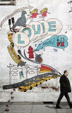 Louis CK Comedian's Comedian Graffiti Louie TV Show Poster 11x17