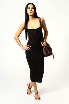 Mischa Jersey Boobtube Midi Length Dress at boohoo.com