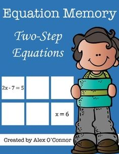 Save by purchasing all of my Equation Memory games as a part of the Equation Memory Bundle at the following link! Equation Memory Bundle Equation Memory: Two-Step Equations is a math game that includes 24 memory cards.
