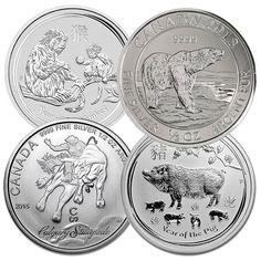 HALF OUNCE Silver Coin - .999 Pure, Random Design Silver Eagle Coins, Silver Eagles, Pure Products, Personalized Items, Random, Gold, Design, Casual