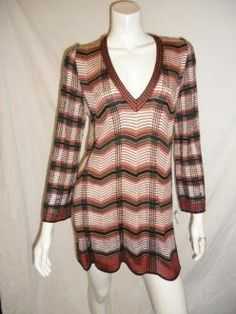 Available in My store!! check it out! Missoni Ultra Mini Zig-zag Knit V-neck Dress/tunic