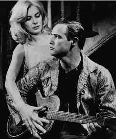 """Marlon Brando and Joanne Woodward in """"The Fugitive Kind"""", 1959 Hollywood Actor, Golden Age Of Hollywood, Hollywood Actresses, Classic Hollywood, Old Hollywood, Jean Simmons, Tennessee Williams, Cinema Tv, Moda Masculina"""