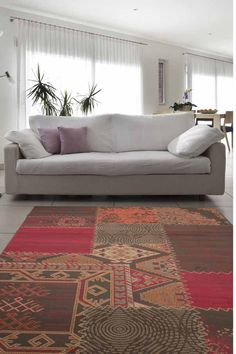 USA Los Angeles Red Area Rug