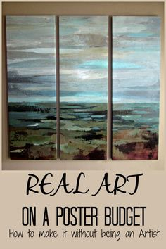 Print to Painting: Real Art on a Poster Budget. How to make it without being an artist. Make a print on canvas look like a real painting with gel medium