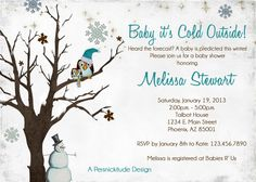 Marvelous Winter Bridal Shower Invitation, Printable   Snow Bird On Branches, Blue,  Snowflakes, Winter Invitation, Bridal Shower Invitation   296 | Pinterest |  Winter ...