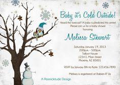 Winter Clothesline Baby Shower Invitation   Winter Baby Showers, Winter  Babies And Babies