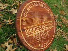 Personalized Beer Sign Home Brew Boyfriend Gift Beer Bar Sign Wine Barrel Sign Pub Beer Brewery Personalized Pub Sign Tavern Sign Wheat Beer by TopGrainWoodShop on Etsy https://www.etsy.com/listing/219647208/personalized-beer-sign-home-brew