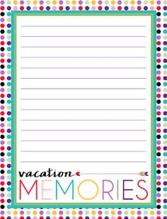 i should be mopping the floor: Newsletter Printable: Vacation Journal Pages