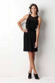 Scoop chiffon bridesmaid dress with natural waist