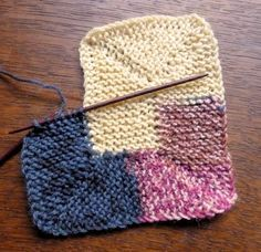 This is a 10 stitch Blanket which spirals till you run out of yarn - great way to use up small bits of yarn. Free pattern.
