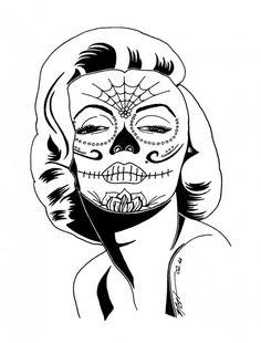 Sugar Skull Coloring Pages Http Asyrum Spreadshirt Com Sugar Skull