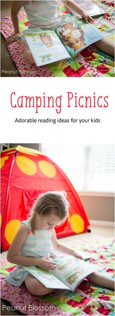 Themed reading picnic for kids: reading together doesn't have to mean just the standard bedtime story.