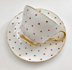 Shelley Polka Dot Tea Cup & Saucer Teacup