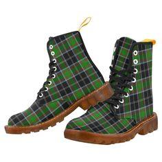 Tartan Boot – MacArthur Modern Martin Boot – Your Tartan Clan Buchanan, Clan Macdonald, Campbell Clan, Clan Macleod, Floral Combat Boots, Large Leather Tote Bag, Martin Boots, Timberland Boots, Tartan