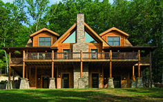 The Home of a Log-Home Builder A North Carolina home launches the owner's second career. Cabin Activities, Log Homes Exterior, Log Home Builders, Log Home Living, North Carolina Homes, Timber House, Lake Cottage, Cabin Homes, Cabins In The Woods