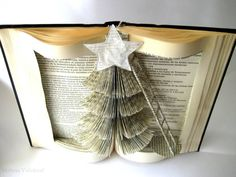 Christmas Trees Made From Books | Book Art - Christmas Tree Book Sculpture - Altered Book - Christmas ...