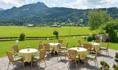 Terrasse im Hotel Alpenhof in Oberstdorf