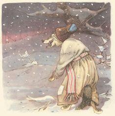 Ukrainian fairy tale, Moscow: Detgiz, illustrated by Evgenii Rachev Ivan Bilibin, Golden Age, Mittens, Fantasy Art, Fairy Tales, Folk, Illustration Art, Cartoon, Drawings