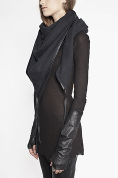 Ovate | Scarf with Leather Binding