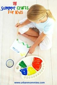 The summer is on his way - 15 summer crafts for kids.