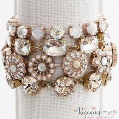 La Vie Parisienne by Catherine Popesco and Mariana bracelets in wonderful white and neutral colors. Available at www.regencies.com
