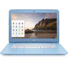 "HP 14"" Snow White/Pastel Sky Blue 14-Ak020Nr Chromebook PC with Intel Celeron N2840 Dual-Coree Processor, 2GB Memory, 16GB eMMC Hard Drive and Chrome OS"