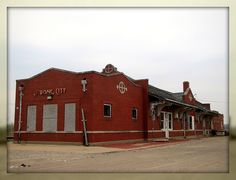 Santa Fe Railway depot, Strong City, Kansas