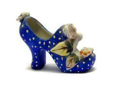 Peony Polka Dot Porcelain Shoe by theathenaeum on Etsy, $34.95