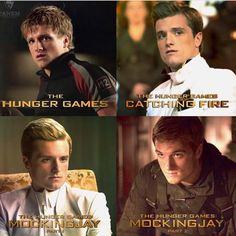 peeta looks so different in every movie << i like the right two the best <3