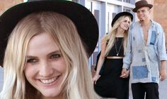 Ashlee Simpson and fiancé Evan Ross wear his and hers fedoras