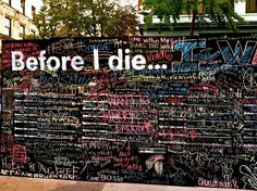Candy Chang's Before I Die wall