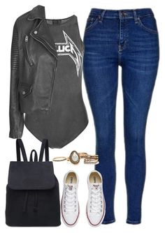 """""""x"""" by welove1 ❤ liked on Polyvore featuring Topshop and Converse"""