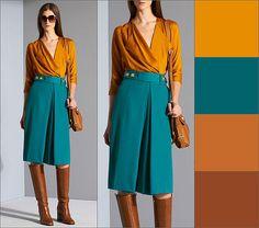 Color schemes for clothes Colour Combinations Fashion, Color Combinations For Clothes, Fashion Colours, Colorful Fashion, Color Combos, Color Schemes, Mode Outfits, Fashion Outfits, Womens Fashion