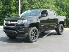 """2016 Chevrolet Colorado W/T with a 2"""" Procomp lift, Procomp wheels and BFG 275/55R20 tires. Nice clean look!"""