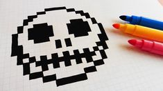 Handmade Pixel Art - How To Draw Jack Skellington #pixelart
