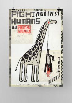 Animal Guerilla_giraffe