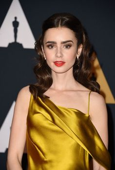 Actress Lily Collins attends the 8th Annual Governors Awards.
